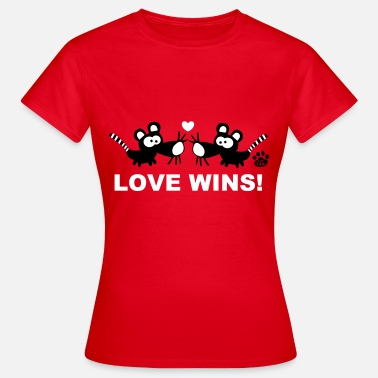 Gay Maus Love Wins Catpaw Maus Gay Lgbt Rainbow Pride Cat - Frauen T-Shirt