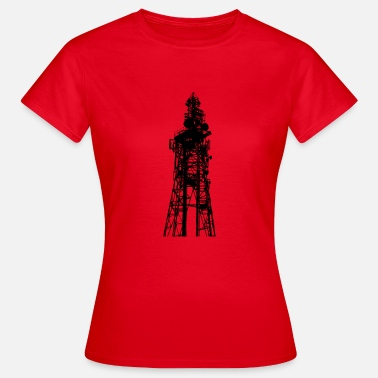 Sändning Stor sändning / TV Tower silhouetted - T-shirt dam