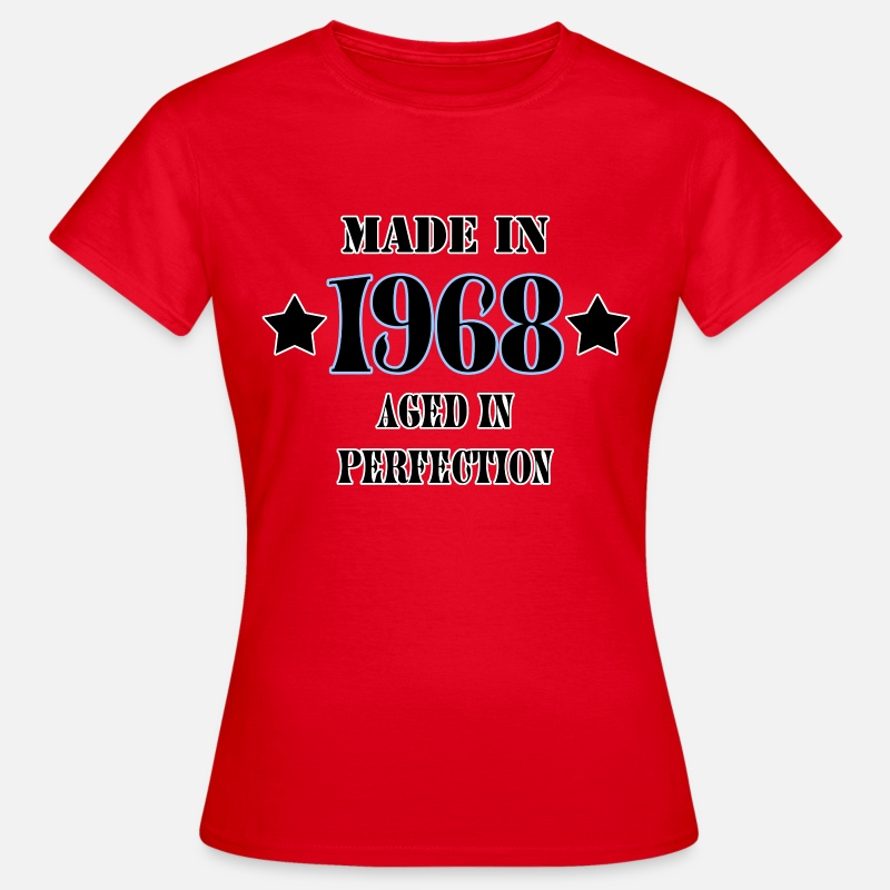 1968 T-Shirts - 1968 - Vrouwen T-shirt rood