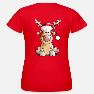 Rendier  Grappige Christmas Rendier - Vrouwen T-shirt