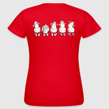 Funny Sheep - Moutons - Mouton - T-shirt Femme