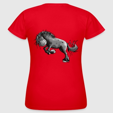 Sauvage Cheval frison - Chevaux - T-shirt Femme