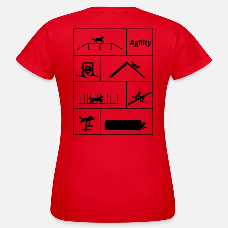 Agility T-Shirts - Agility - Women's T-Shirt red