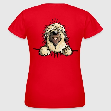 Briard Cartoon Happy Briard - Women's T-Shirt