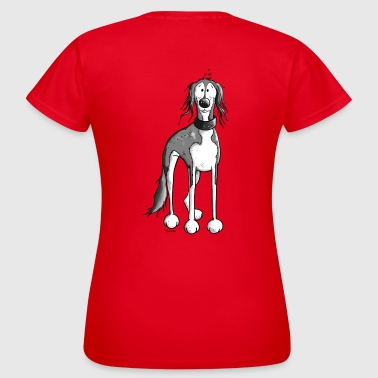 Happy Saluki Dog - Women's T-Shirt