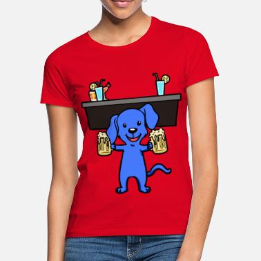 Coma Dog Party Vieringen Alcohol Safesting Bar - Vrouwen T-shirt