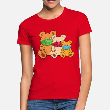 Accountant Nose Teddy bear with mask Teddies protect themselves - Women's T-Shirt