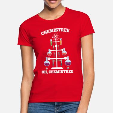 Chemistry Chemistry Christmas tree - Women's T-Shirt