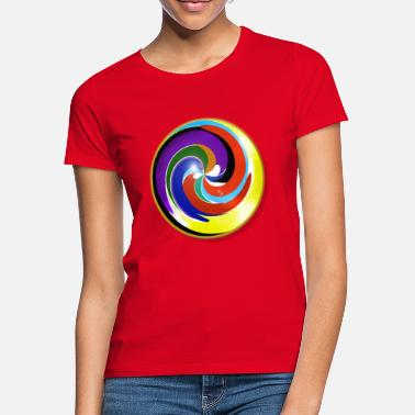 Multi Multicolored and shiny marble - Women's T-Shirt