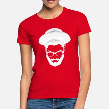 Hipster in hat - Women's T-Shirt