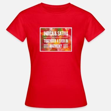 82b316ffb56c indica & sativa together 4 ever in harmony Women's Premium T-Shirt ...