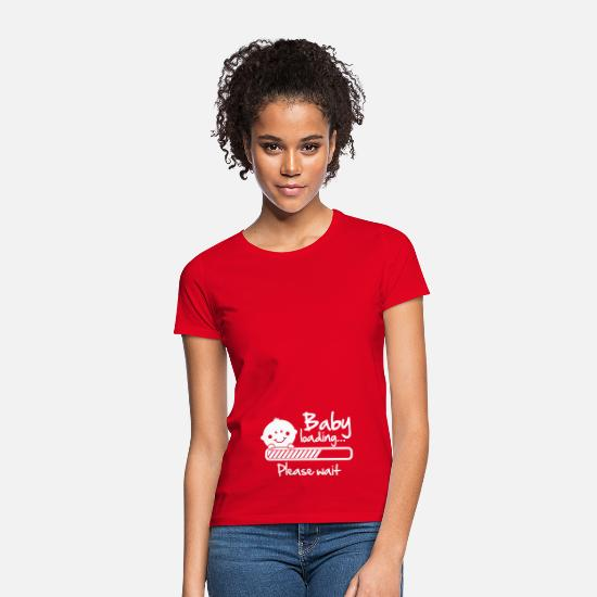 Grossesse T-shirts - Baby loading - please wait - T-shirt Femme rouge