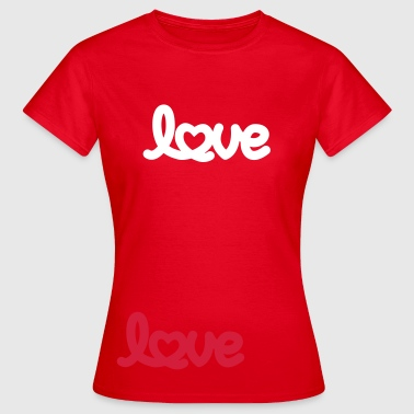 Love script with heart - Frauen T-Shirt
