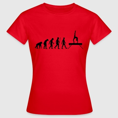 Evolution Schwebebalken - Frauen T-Shirt