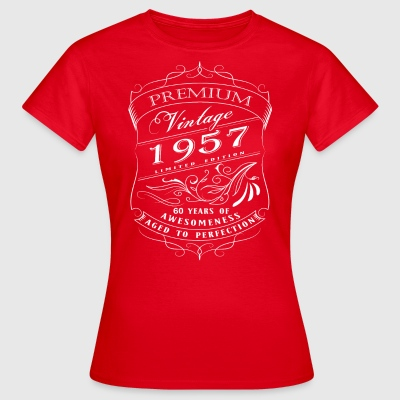 Premium Vintage 1957 60 years of awesomeness - Women's T-Shirt