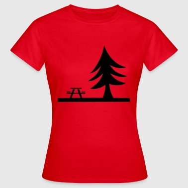 Picknick bänk Tree present Nature Leisure - T-shirt dam