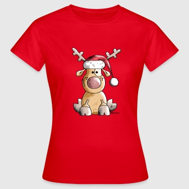 Grappige Christmas Rendier - Vrouwen T-shirt