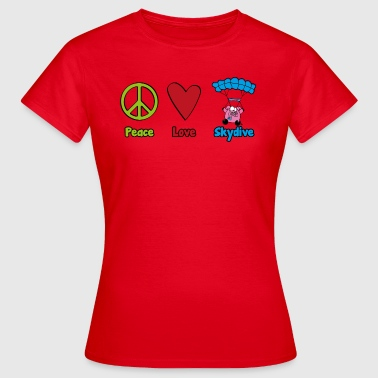 Peace Love Skydive - Dame-T-shirt