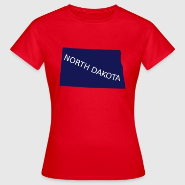 North Dakota - T-skjorte for kvinner