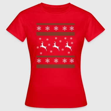 Ugly Christmas, Merry Christmas, Reindeer, Snow - Women's T-Shirt
