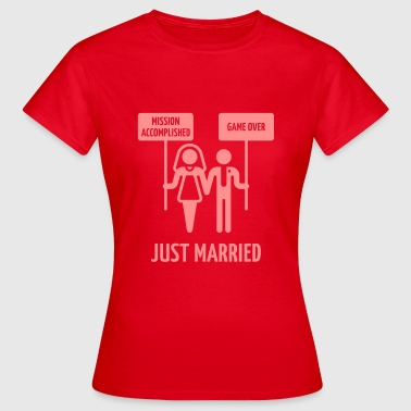Just Married – Mission Accomplished – Game Over - Women's T-Shirt