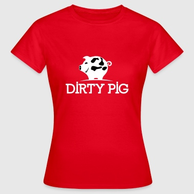 DIRTY_PIG_White - T-skjorte for kvinner