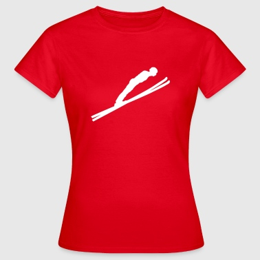 jump ski jumping  - Women's T-Shirt