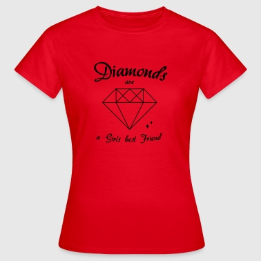 diamanter - Dame-T-shirt