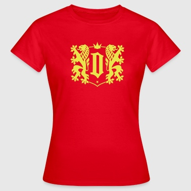 Dresden City - Double Lion Wappen - Frauen T-Shirt