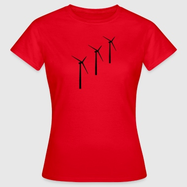 3 wind turbines wind energy - Women's T-Shirt