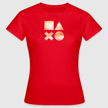 Lanparty Play Button Console Game Symbols Nerd lol - Women's T-Shirt