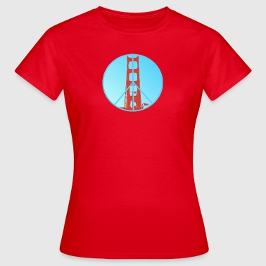 Golden Gate Peace - Dame-T-shirt