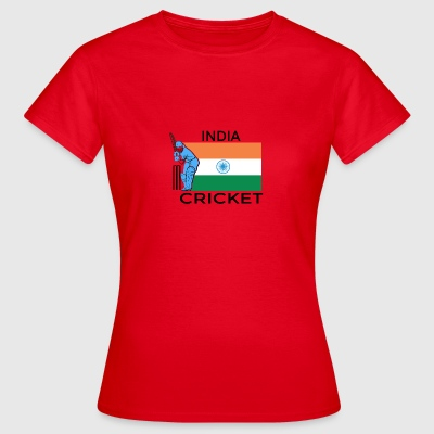 India Cricket Player Flag - Vrouwen T-shirt