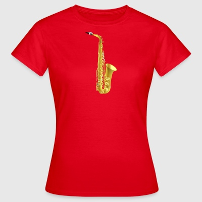 golden saxophone - Women's T-Shirt