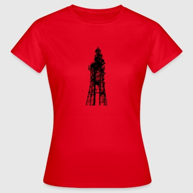 Stor sändning / TV Tower silhouetted - T-shirt dam