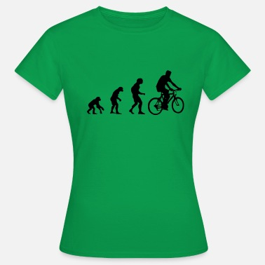 Evolution Mountain Bike Evolution, monkeys to the cyclist, mountain bike - Women's T-Shirt