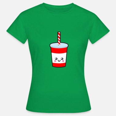 Drinking Straw Drinking cup with straw - Women's T-Shirt