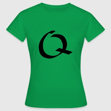 Letter Q - calligraphy. Handwritten - Women's T-Shirt