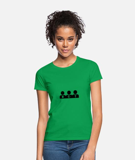 Islam T-Shirts - religion - Women's T-Shirt kelly green