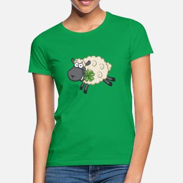 Lucky Charm Happy sheep lamb with shamrock - Lucky sheep - Women's T-Shirt