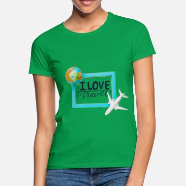 I love to travel - Women's T-Shirt