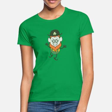 Pointy St Patrick's Day Leprechaun wearing clover glasses - Women's T-Shirt