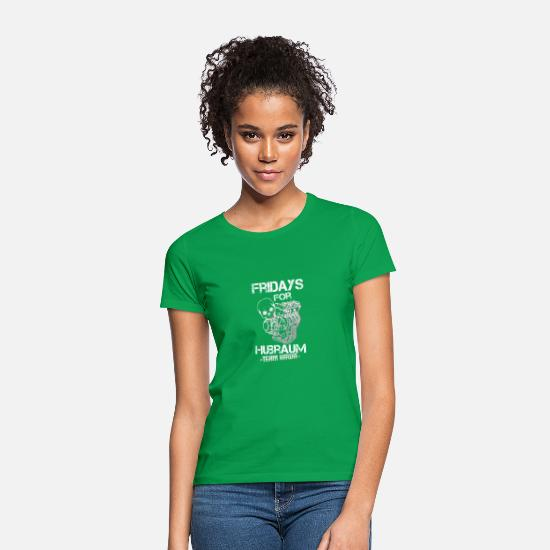Streetfighter T-Shirts - Fridays for Hubraum, weiß, Team Kawa - Frauen T-Shirt Kelly Green