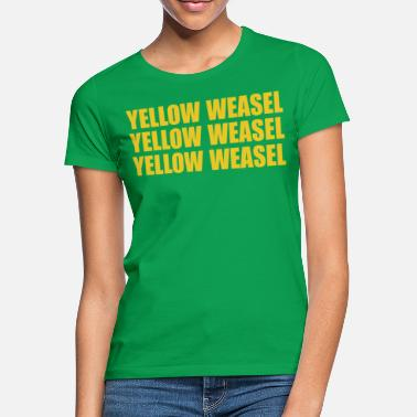 Green Bay Packers Green Bay Packers gelbes Wiesel-T-Shirt - Frauen T-Shirt