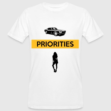 PRIORITIES car woman - Männer Bio-T-Shirt