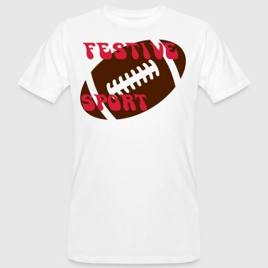 Festive rugby 3 - T-shirt bio Homme