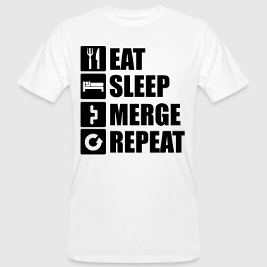 Eat sleep merge repeat 1f - Men's Organic T-shirt