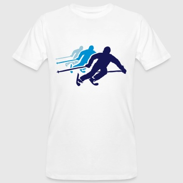 ski resort skies ski area skiing - Men's Organic T-shirt