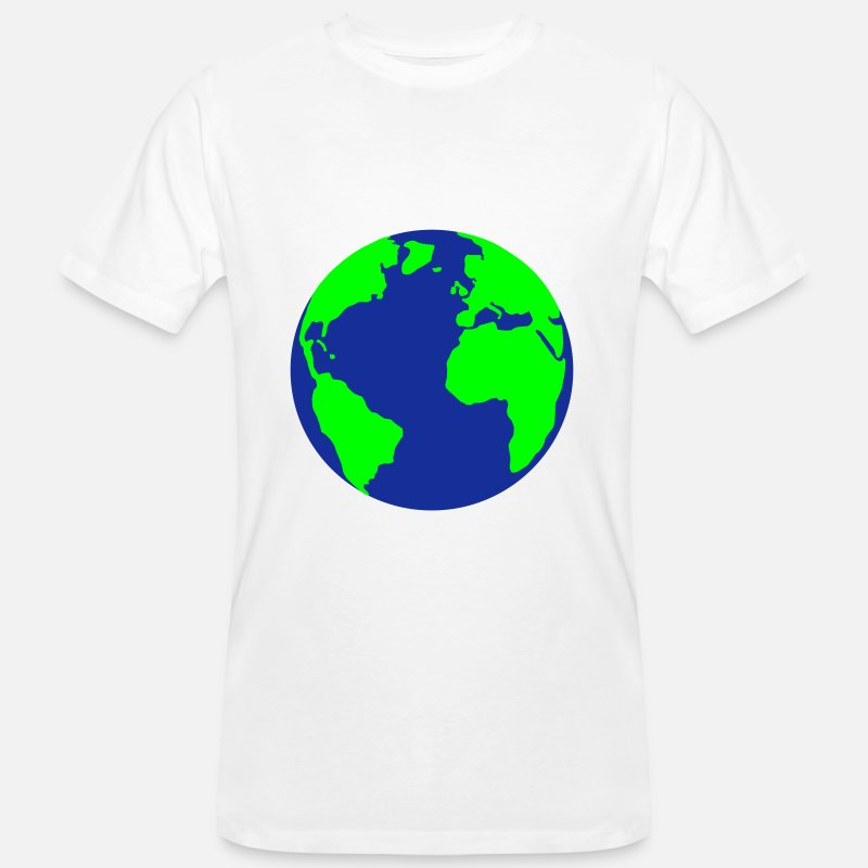 erde welt erdkugel m nner bio t shirt spreadshirt. Black Bedroom Furniture Sets. Home Design Ideas