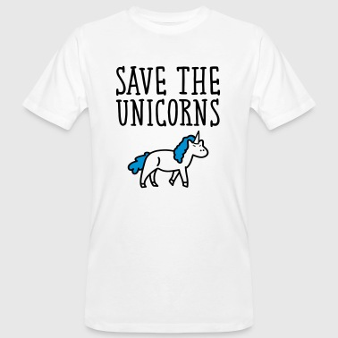 Save The Unicorns - Mannen Bio-T-shirt